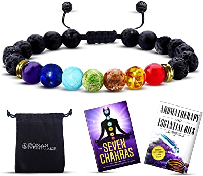 Jewelry & Watches Lava Stones Bracelet Chakra Lava Stone With 2 Essential Oils Natural & Alternative Remedies