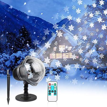 Amazon.com: Proyector de luces LED de Navidad, impermeable ...