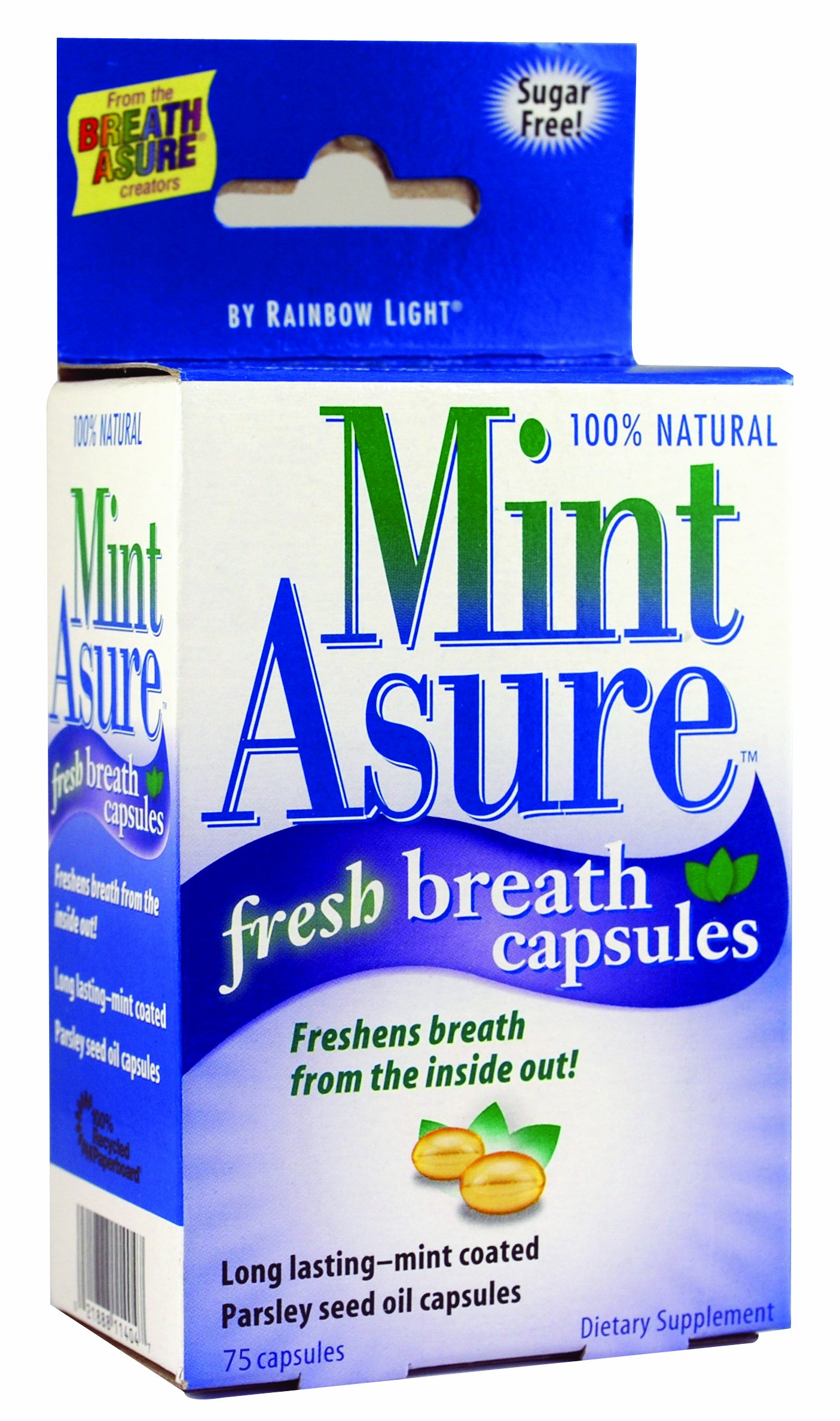 MintAsure Fresh Breath Capsules Mint-coated 75 capsules (Pack of 6)