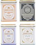 Harney & Sons Cup of Tea Variety Pack of 4 - Hot Cinnamon Spice, English Breakfast, Paris, Earl Grey Supreme