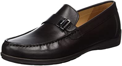 U Simon W - Mocassins (Loafers) - Homme, Marron (Coffee), 47 (Taille Fabricant: 12)Geox