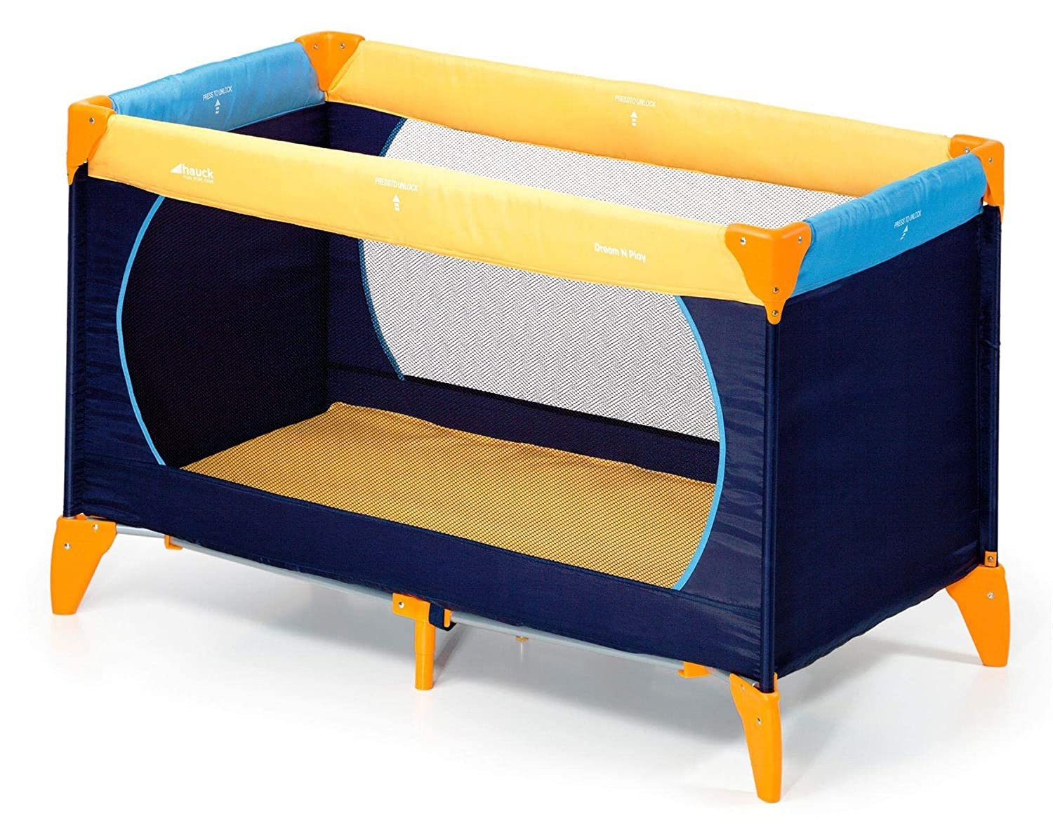 Easily assembled or folded Blue Navy. n Play Travel Cot Yellow