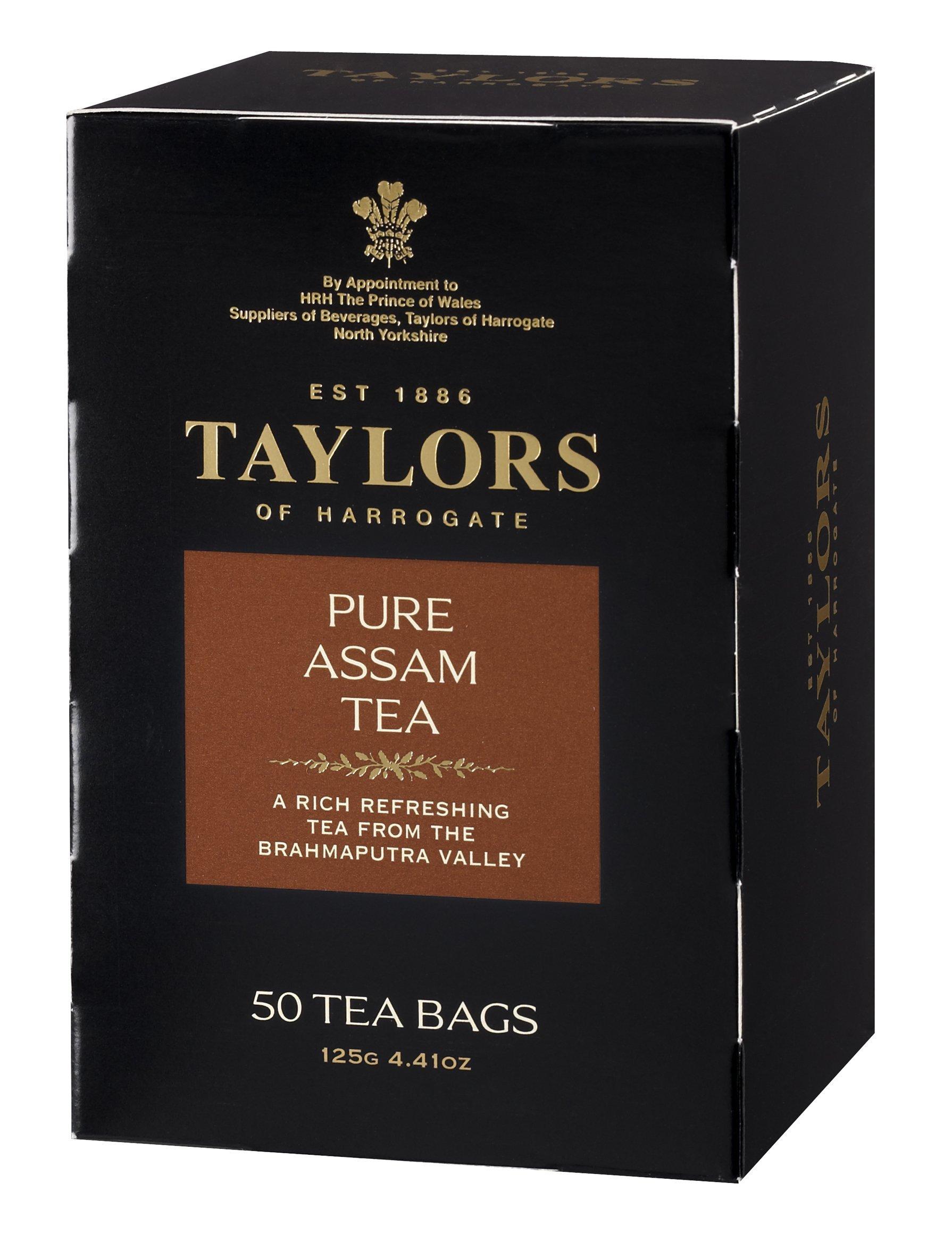 Taylors of Harrogate Pure Assam, 50 Teabags, 4.41 oz, (Pack of 6)