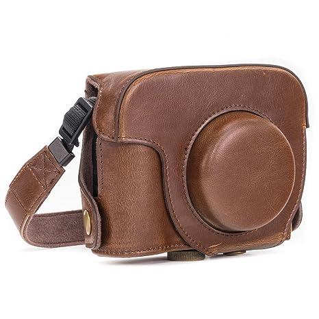 MegaGear MG183 - Bolsa de funda protectora para cámara compacta Canon PowerShot G16, color marrón oscuro