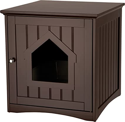 Brown Trixie Pet Products Wooden Outdoor Cat Sanctuary