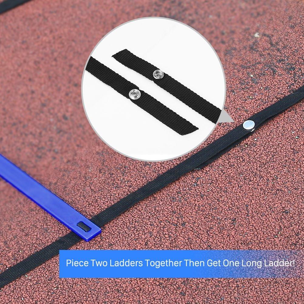 GHB Pro Agility - Escalera de entrenamiento de agilidad con bolsa de transporte, color azul: Amazon.es: Deportes y aire libre