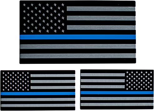 """Blue Lives Matter Police USA American Thin Line Flag Car Decal Sticker 3/"""" x 1.8/"""""""