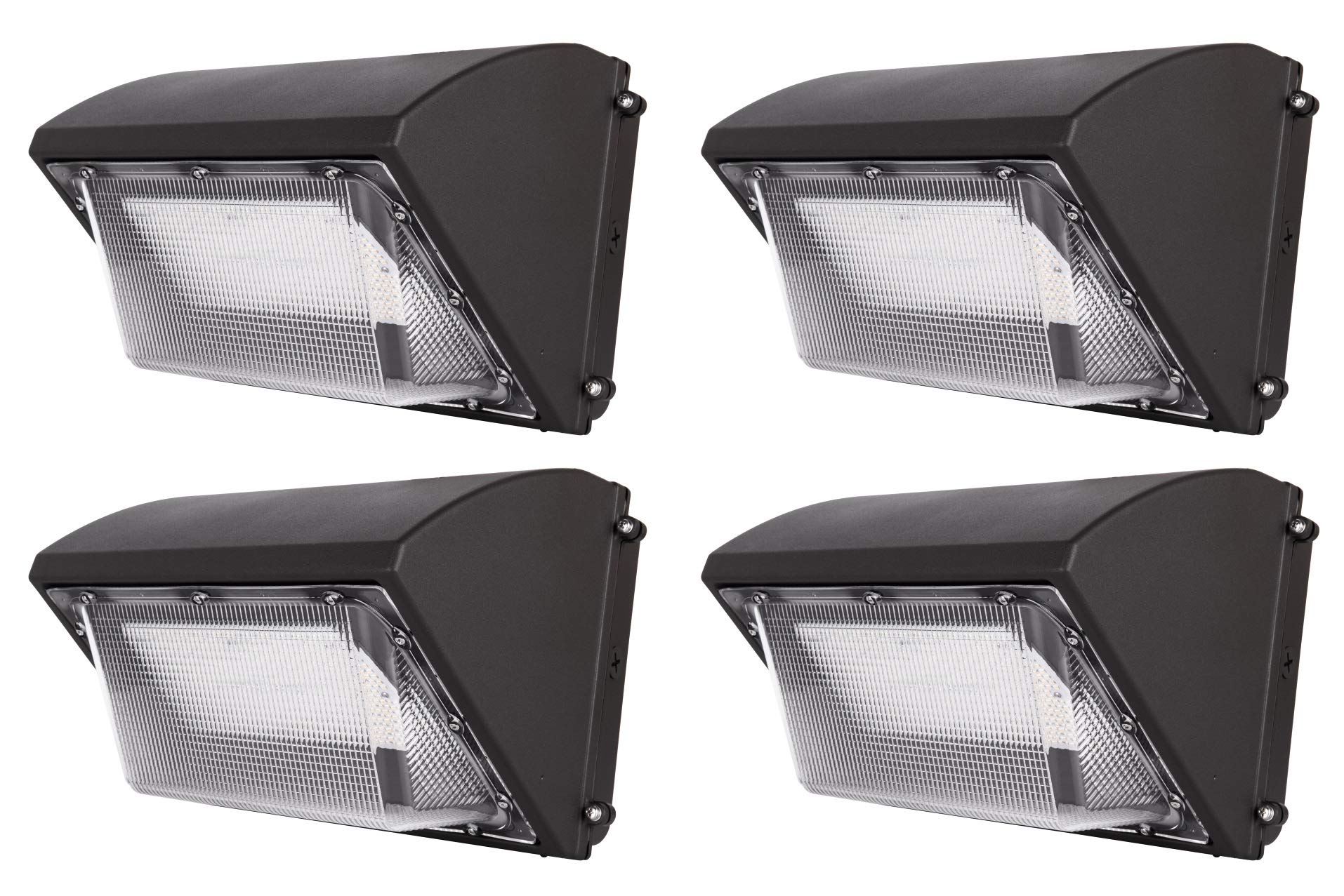 Hyperikon 135W LED Wall Pack Fixture, HPS/HID Replacement, 5000K, 17500Lumens, Commercial and Industrial Outdoor Lighting, IP65 Waterproof - UL & DLC, 4-Pack