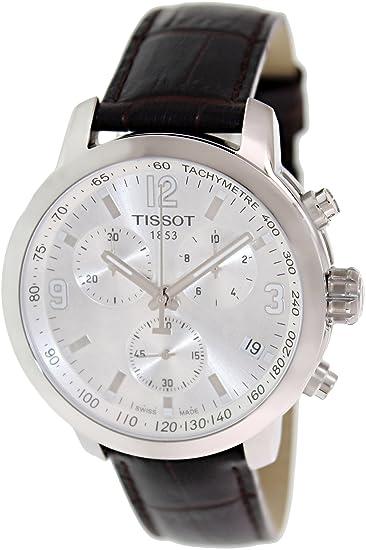 TISSOT PRC 200 Reloj DE Hombre Cuarzo 42MM Correa DE Cuero T055.417.16.037.00: Amazon.es: Relojes