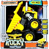 Matchbox Year 2009 Interactive Smart Truck Buddy that Dance, Dumps and Talks - ROCKY The Robot Truck with Audio Sensor, LED Lights, Speaker, Direction Sensor, Working Dump Bed and Smokestack Activation