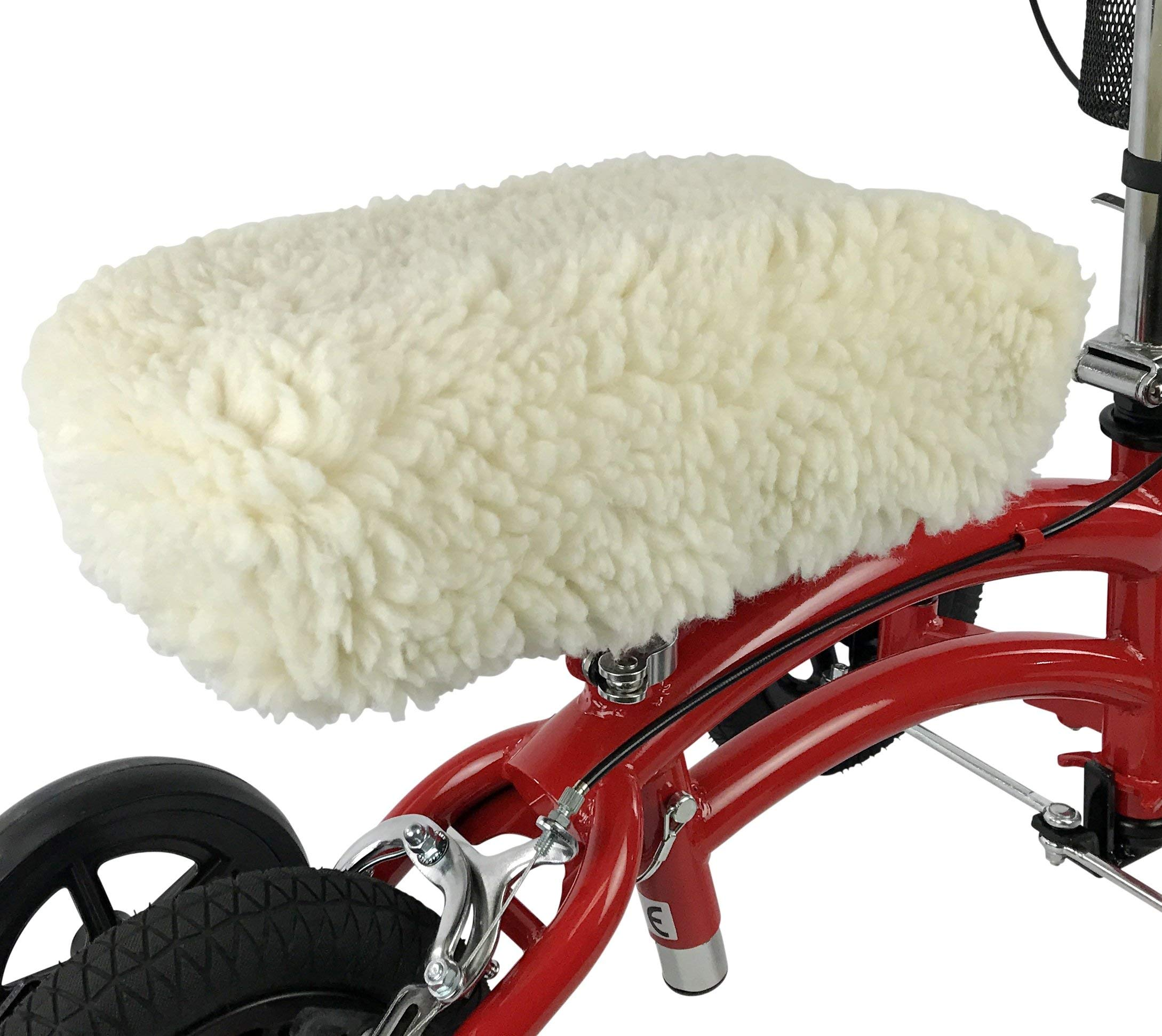 KneeRover Universal Knee Walker Knee Rest Pad Cover - Plush Synthetic Sheepskin Pad for Rolling Scooter by KneeRover