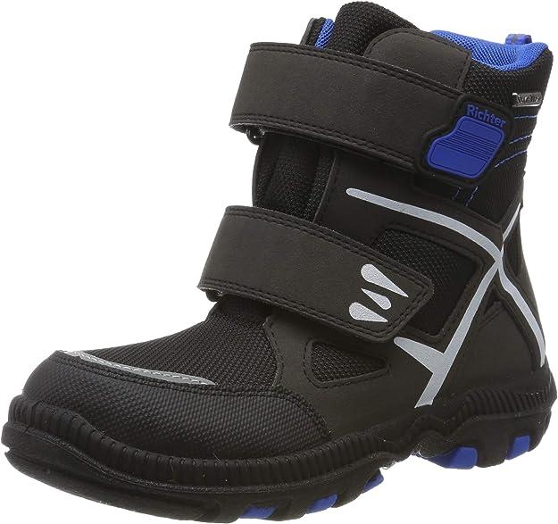Richter Kinderschuhe Boys' Tundra Snow Boots, Black (Black/Lagoon 9901), 9.5 UK,Richter Kinderschuhe,Tundra 8534-641