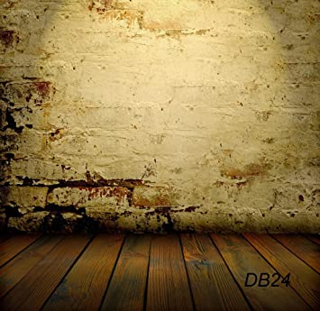 amazon com 10x10ft brick wall with wooden floor vinyl customized