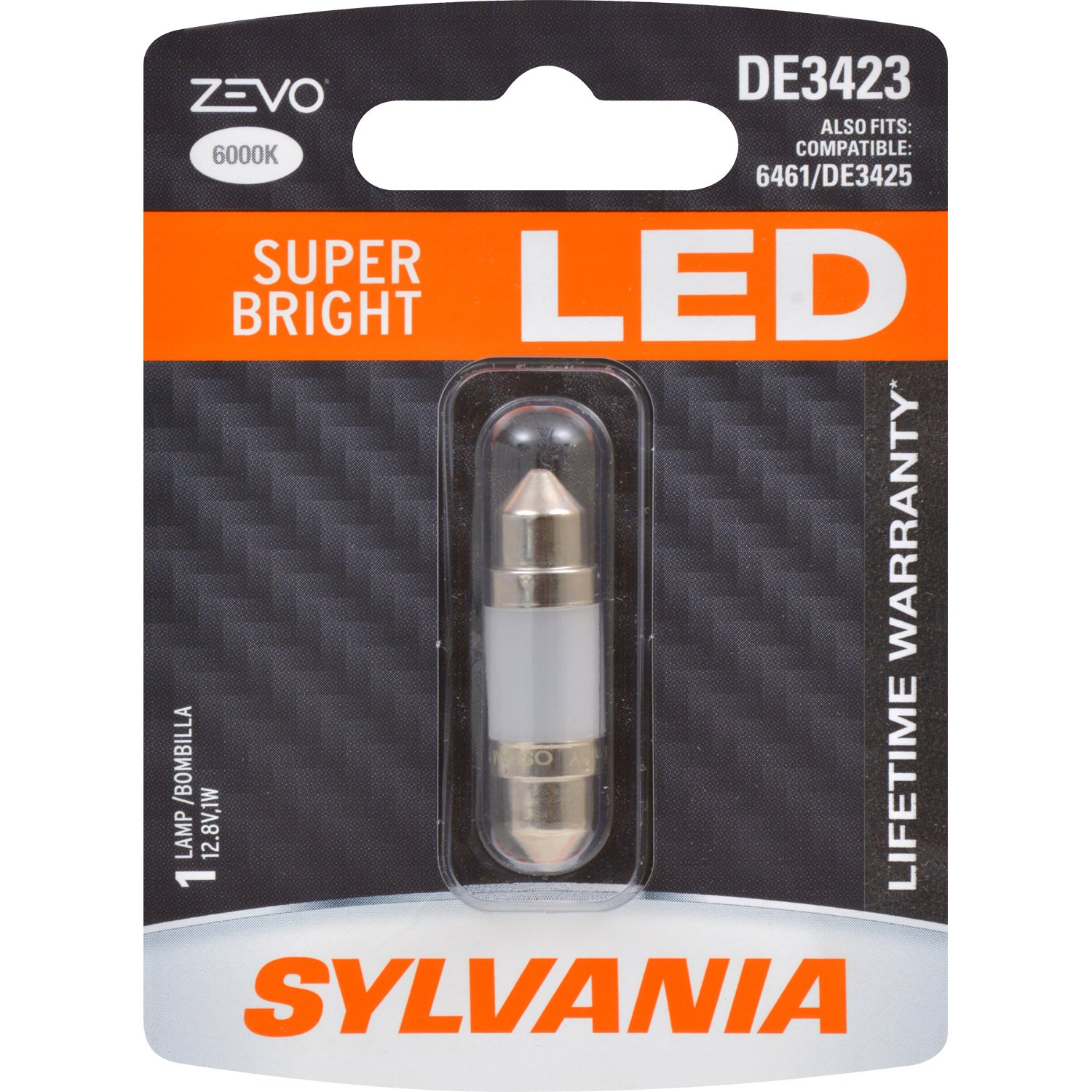 SYLVANIA - DE3423 36mm ZEVO LED Festoon White Bulb - Bright LED Bulb, Ideal for Interior Lighting - Map, Dome, Trunk, Cargo and License Plate (Contains 1 ...