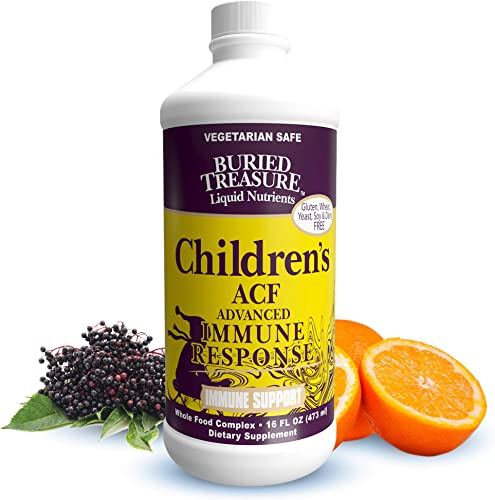 Childrens ACF Rapid Immune Recovery, Immune Booster Support for Kids, Herbal Blend with Vitamin C Elderberry Enchinacea, 16oz