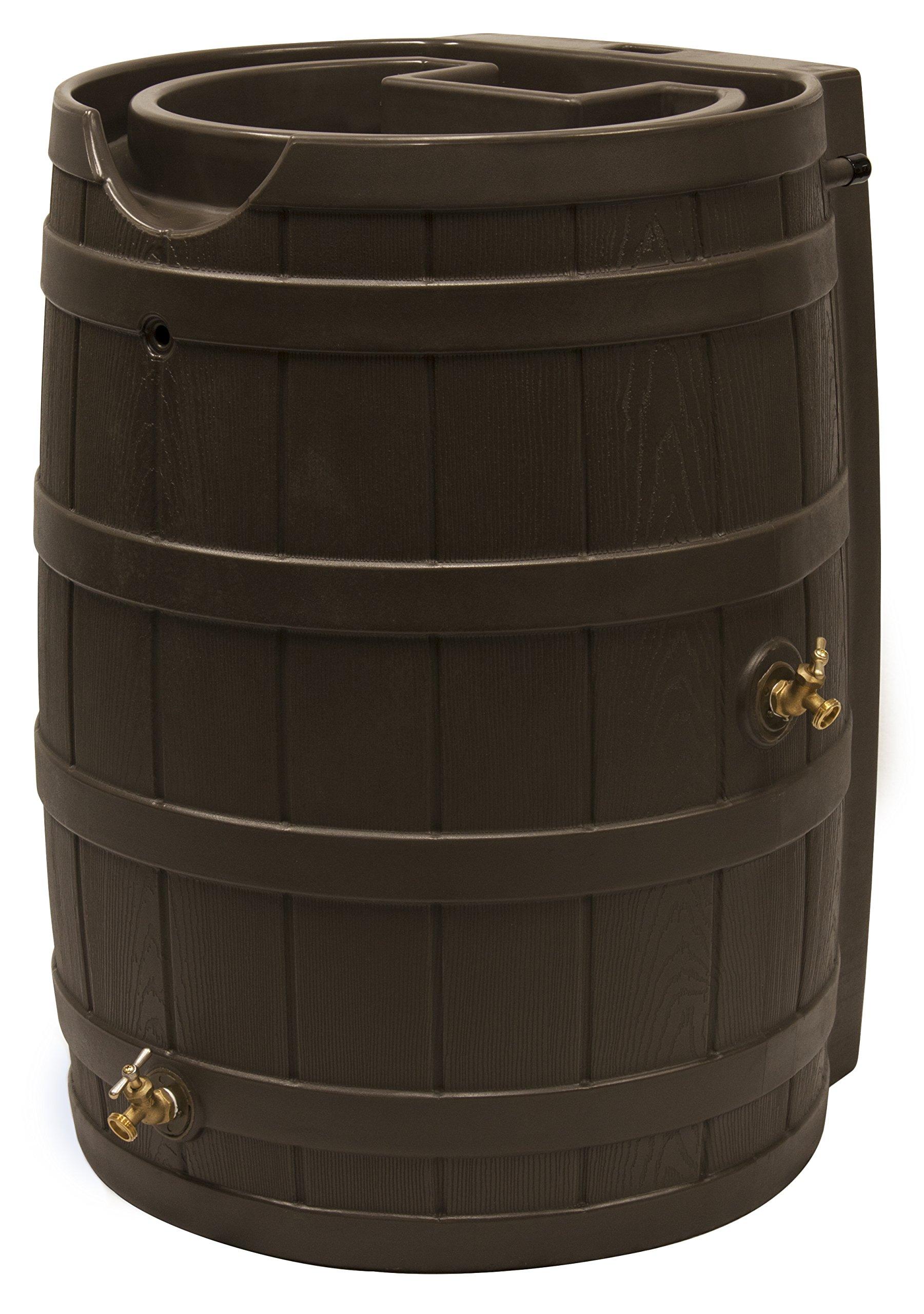 Good Ideas RW65-OAK Rain Wizard Rain Barrel, 65 gallon, Oak