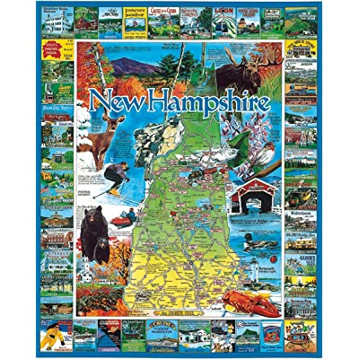 White Mountain Puzzles Best of New Hampshire - 1000 Piece Jigsaw Puzzle: Toys & Games
