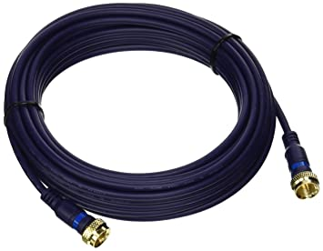 C2G 27229 Velocity Mini-Coax F-Type Cable, Blue (25 Feet,