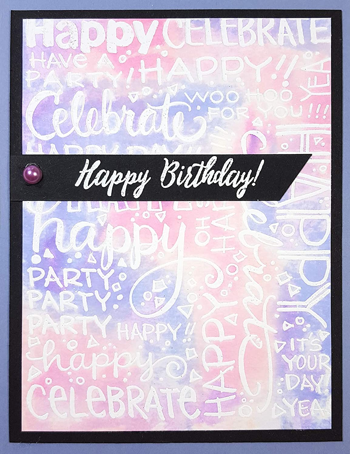 Grey Stampendous CRR313 Cling Stamp-Party Background