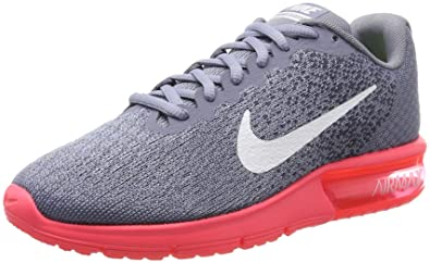 detailed look 72a8f 1dfcb Nike Air Max Sequent 2, Running Femme, Gris (Dark Sky White-Solar