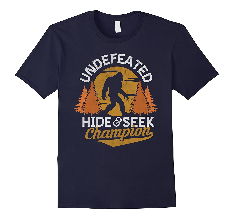 Bigfoot T-shirt Undefeated Hide & Seek Sasquatch Yeti Gift-FL
