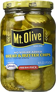 product image for Mt. Olive Bread & Butter Chips, No Sugar Added 16 Oz (Pack of 3)
