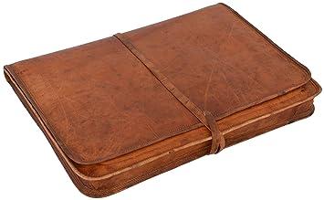 """d9d88f1ba1 Gusti Cuir nature """"Clay"""" housse ordinateur portable en cuir  17"""" pochette serviette"""
