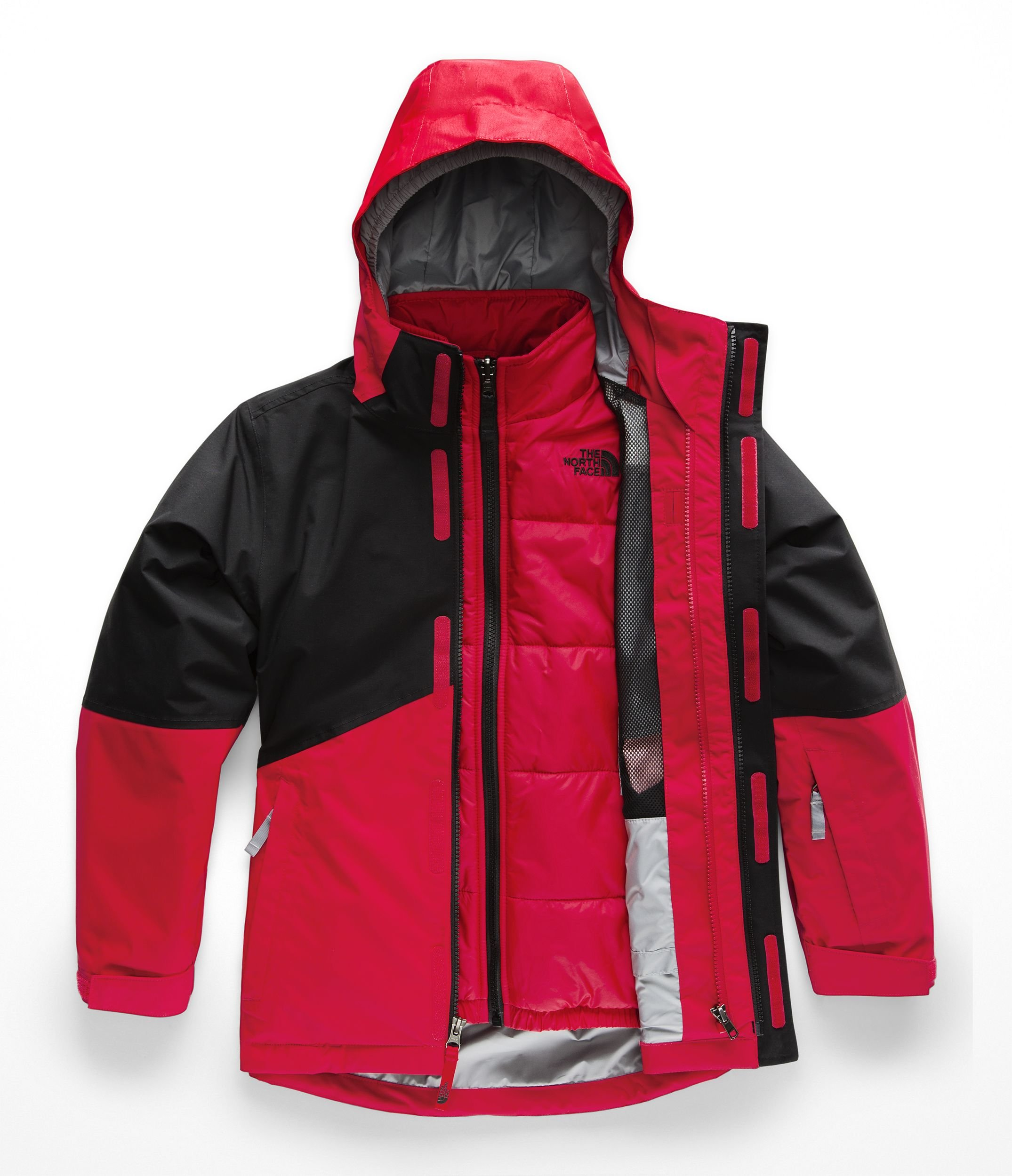 The North Face Kids Boy's Boundary Triclimate¿ Jacket (Little Kids/Big Kids) TNF Red/TNF Black X-Large