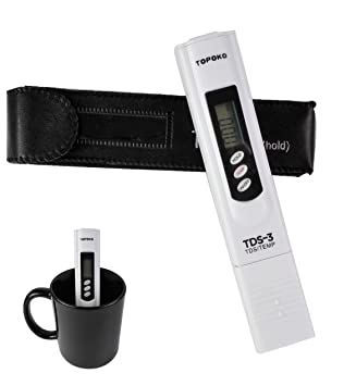 LCD pluma de prueba de agua de pantalla dual Digital medidor de TDS calidad del agua