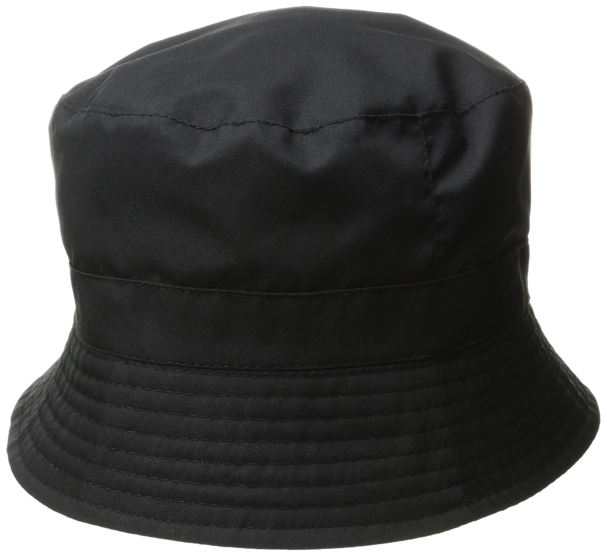 totes Women's Bucket Rain Hat, Black, One Size