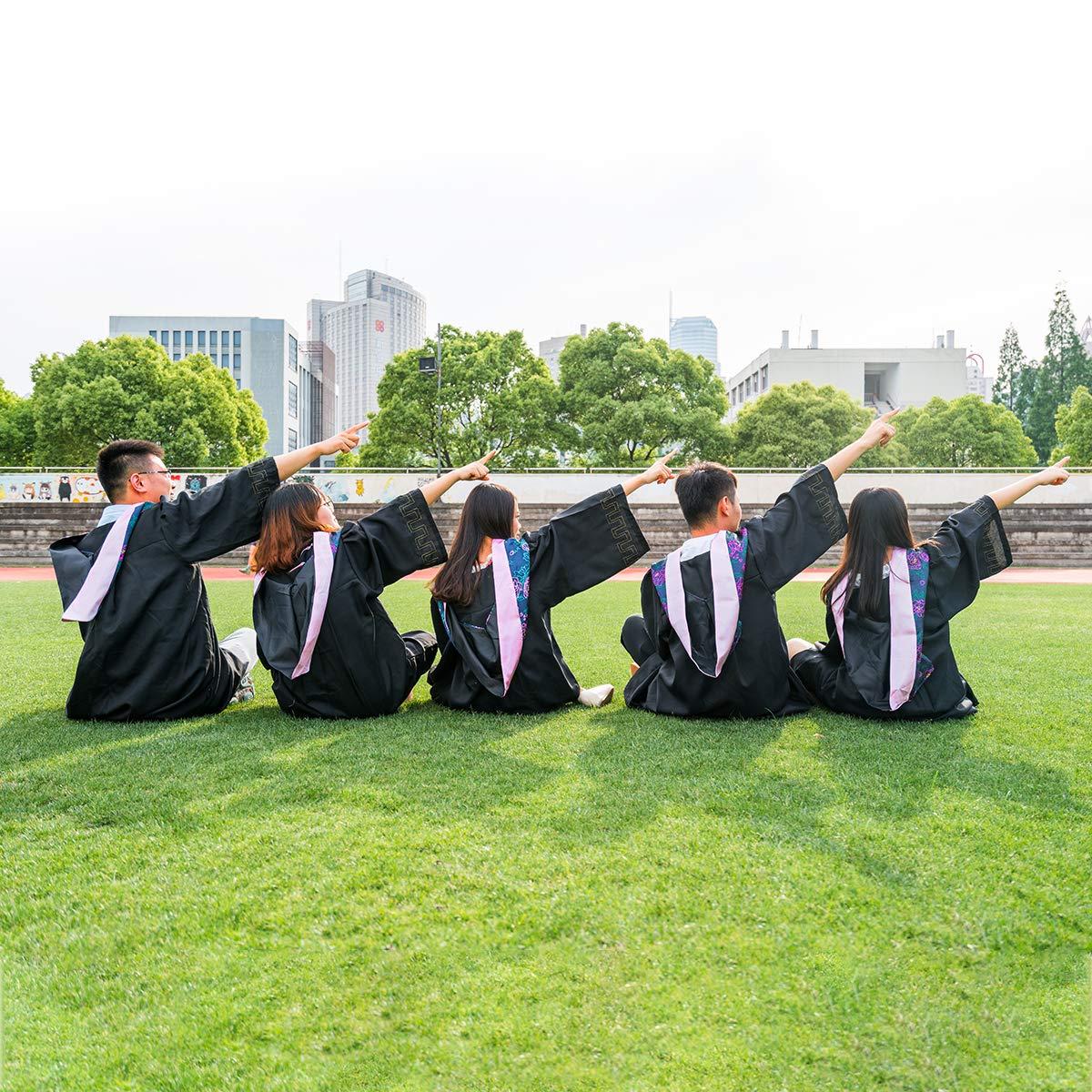 Amosfun Unisex Adult Graduation Gown Cap with Tassel Matte Graduats Costume Accessory for Bachelor Size S