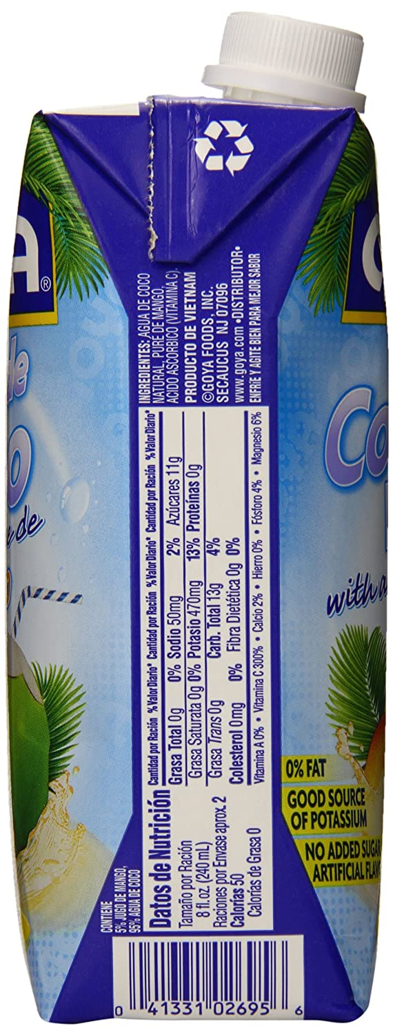 Amazon.com : Goya Coconut Water, Mango, 16.9 Ounce (Pack of 24) : Grocery & Gourmet Food