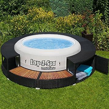 Exceptional XXL Whirlpool Umrandung Polyrattan Pool Rahmen Verkleidung Poolumrandung