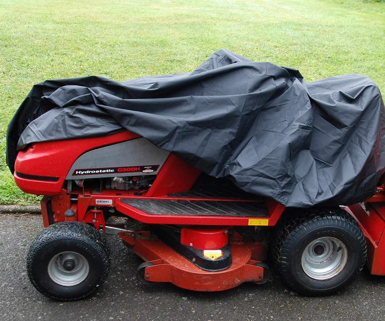 Funda para Cortacésped Cubierta para Cortacésped 300D, 165 x 110 x 165 cm, del tractor montable, Impermeable, Transpirable, Elástico