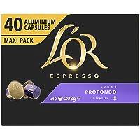 L'OR Espresso Koffiecups Lungo Profondo (160 Lungo Koffie Capsules, Geschikt voor Nespresso* Koffiemachines, Intensiteit…