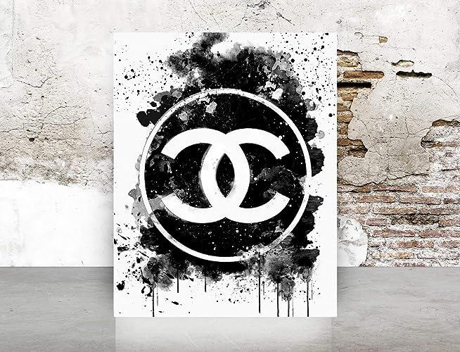61560e31bd00 Amazon.com: Wall Art Chanel Logo Dripping Print Poster - Pop Art ...