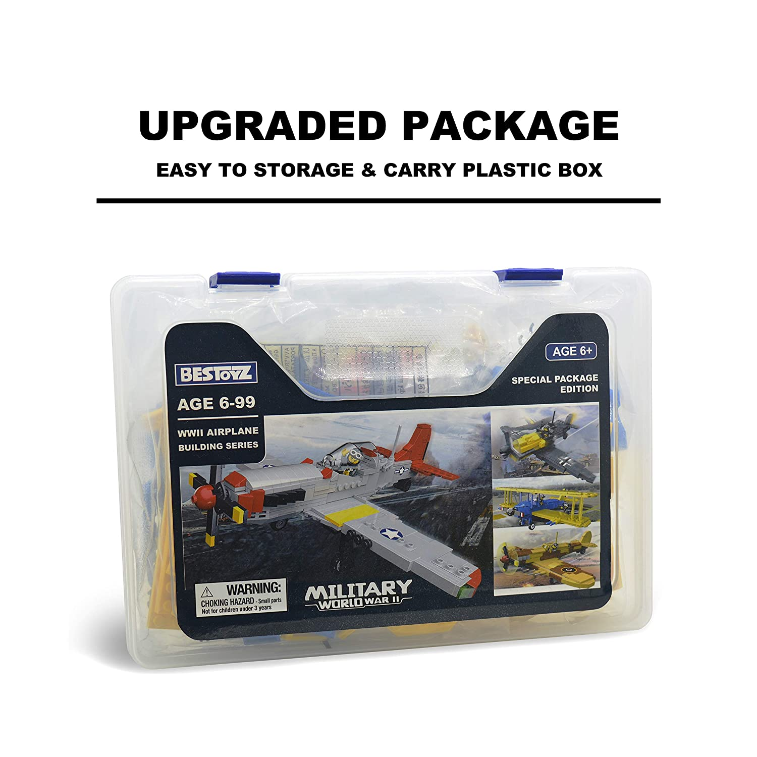 WWII Military US Army Airplane Model Toys 377PCS Bestoyz The Fighter of World War II North American P-51D Mustang Building Bricks Kit