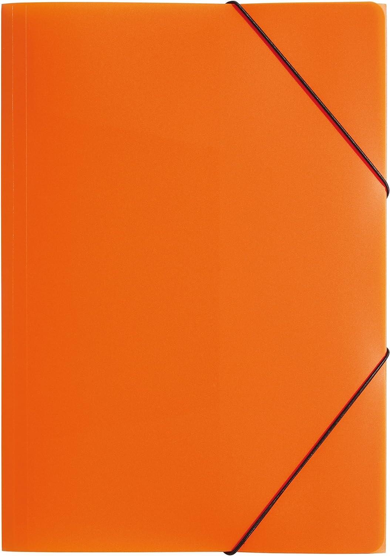 Cartellina con elastici angolari rosa fluo TTO 3 alette formato A3 in polipropilene