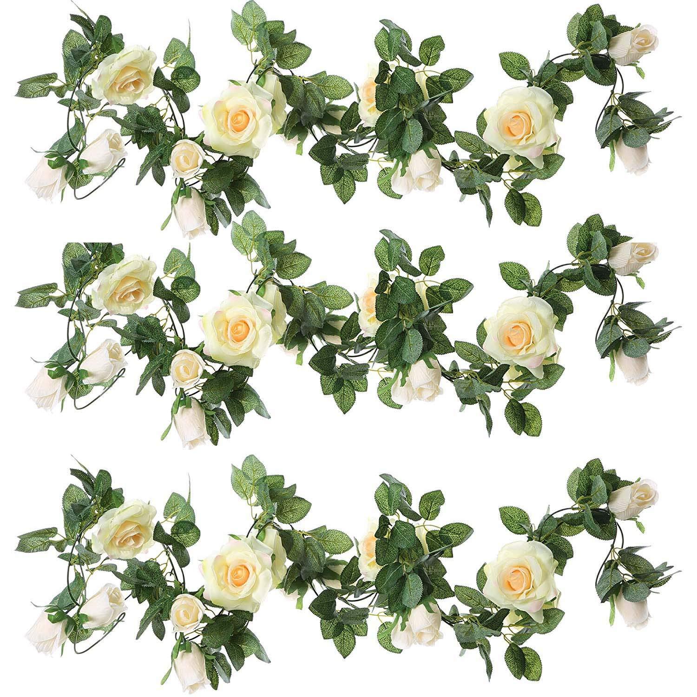 Amazon Zeroin 3 Packs Artificial Flowers Hanging Plants Silk