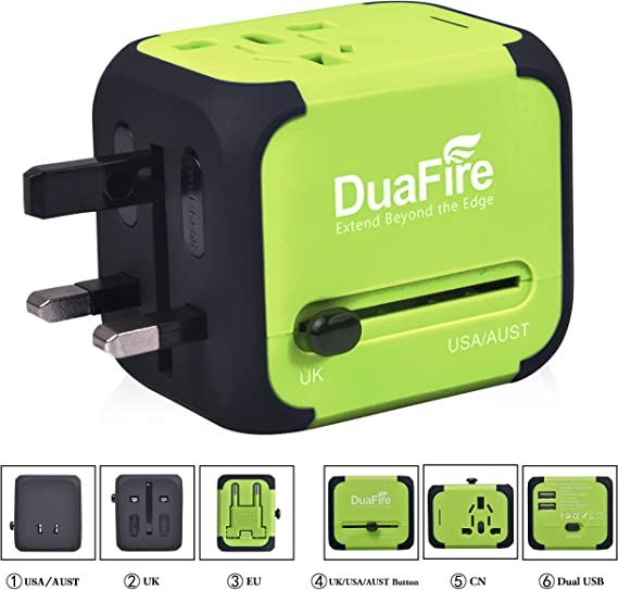 Universal Travel Adapter Wall Charger International Useful US UK AU EU Plug In