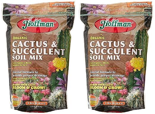 Amazoncom Hoffman 10404 Organic Cactus and Succulent Soil Mix