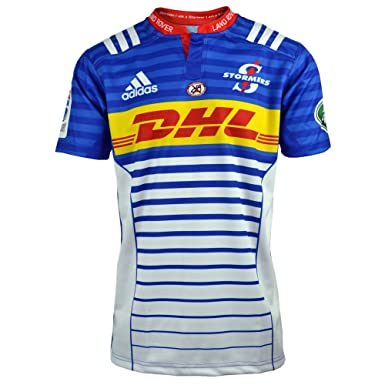 adidas Stormers 2017 Super Rugby Home Replica Shirt - Blue/Collegiate Royal/ White -