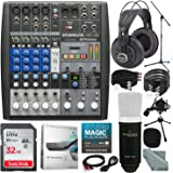 PreSonus StudioLive AR8 USB 8-Channel hybrid Performance and Recording Mixer and Platinum Bundle w/ Marantz Professional MPM-1000 Mic + Studio Headphones + 32GB + More