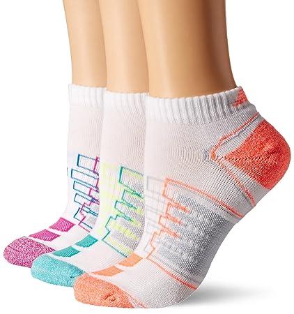 6d82555438b69 Amazon.com : New Balance Performance Low Cut Socks (3 Pack), White ...