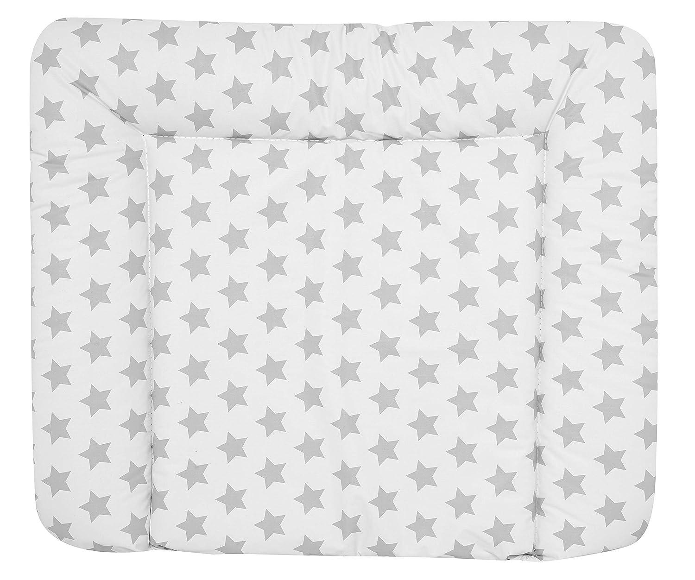 ALVI Wickelauflage Wiko Kuschel 70x85 cm//weiche Wickelunterlage//Wickeltischauflage Folie phthalatfrei beschichtet//Auflage f/ür Wickeltisch ab 0 Monate Design:Raute taupe dunkel