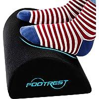 Foot Rest Under Desk Ergonomic Footrest Cushion|Memory Foam Footrest Pillow with Non-Slip Bottom|Leg Pillow for Feet…