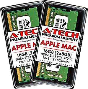 A-Tech 16GB (2x8GB) RAM for 2017 iMac 21.5 inch Non-Retina | DDR4 2133MHz PC4-17000 SO-DIMM 260-Pin CL15 1.2V Non-ECC Unbuffered Memory Upgrade Kit