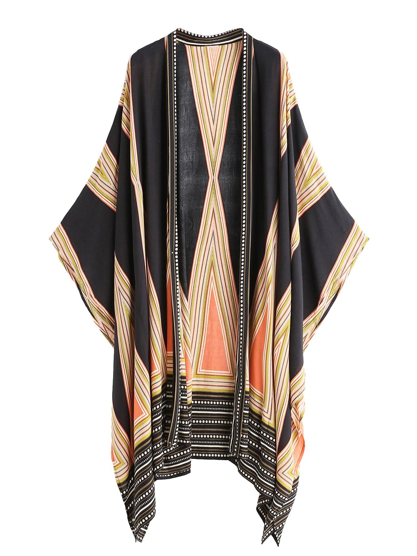 SweatyRocks Women Kimono Vintage Floral Beach Cover Up Swimwear Multicolor #5 One Size