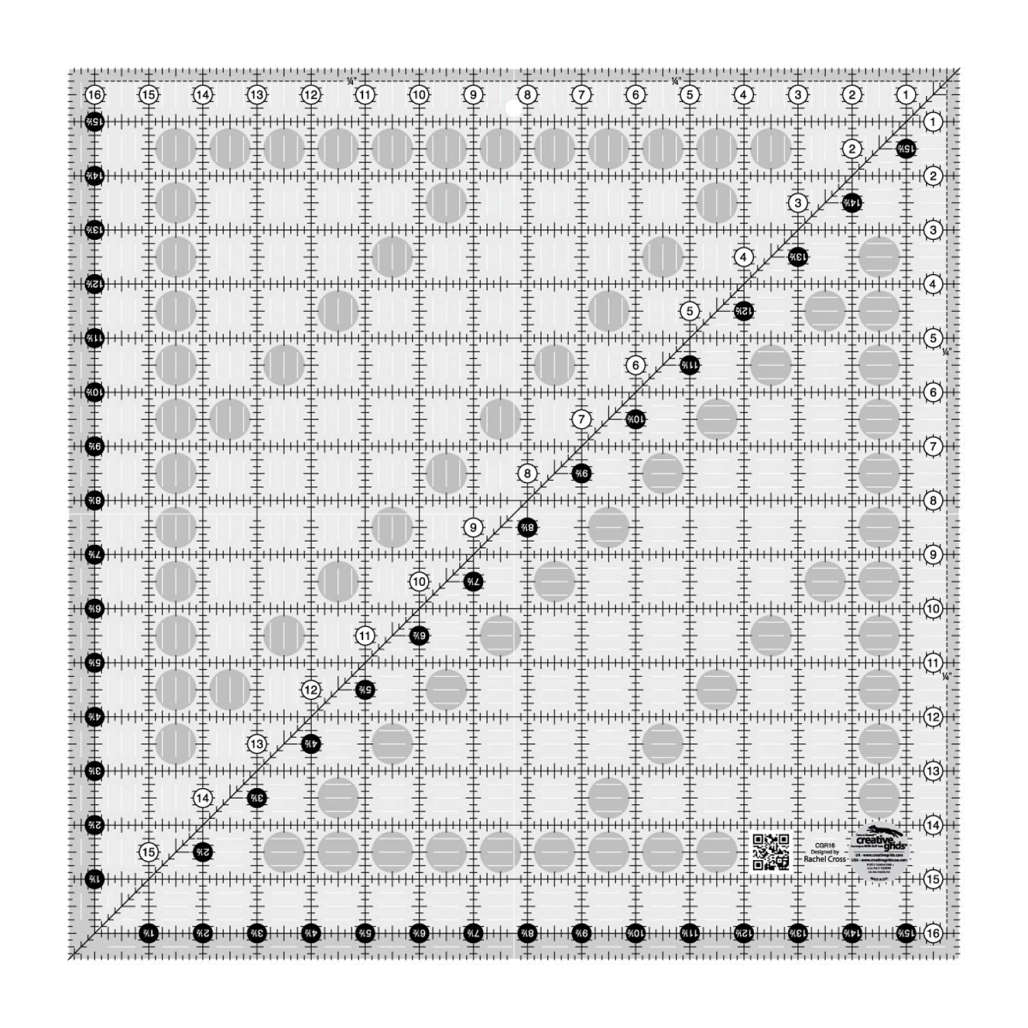 Creative Grids Quilting Ruler 16 1/2 Inch Square (CGR16)