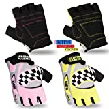 Children Cycling Gloves Padded Kids Bicycle BMX Half Finger MTB Cycle Gloves Kids Cycling Protective Gear